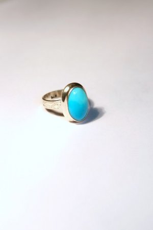Turquoise, long oval