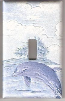 Puffy Dolphin Single Switchplate #1