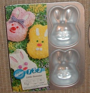 NEW Wilton Easter Bunny Bunnies Mini cake pan