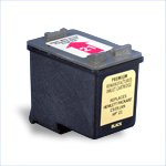 Remanufactured Black Ink Cartridge - replaces HP C9351AN (HP 21) - get two for the price of one -