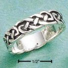 RG009-STERLING SILVER ANTIQUED INTERLOCKING LOOPS BAND