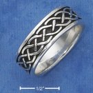 RG003-STERLING SILVER ANTIQUED 7MM LOOSE CELTIC BRAID BAND