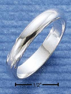 RG013-STERLING SILVER 4MM HP WEDDING BAND