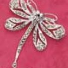 RG039-STERLING SILVER MARCASITE DRAGONFLY PIN