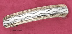 RG250-STERLING SILVER TT BARRETTE WITH SQUEEZE TAB RELEASE SNAP CLOSE