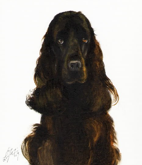 � Original Oil Portrait Painting ENGLISH COCKER SPANIEL