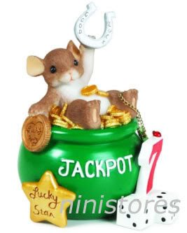 � '09 NEW Charming Tails LUCKY STAR JACKPOT Figurine