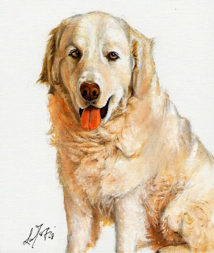 � Original Oil Dog Portrait Painting Art KUVASZ Artwork