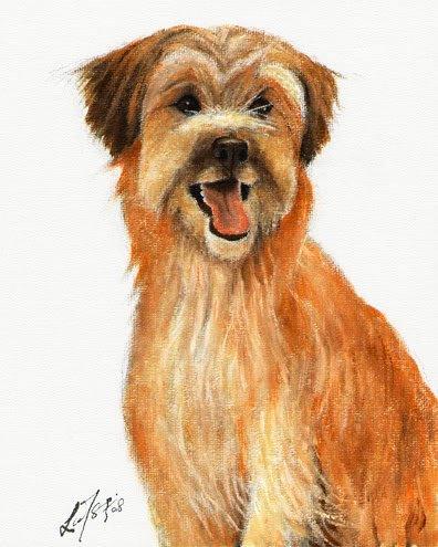� Original Oil DOG Portrait Painting PYRENEAN SHEEPDOG