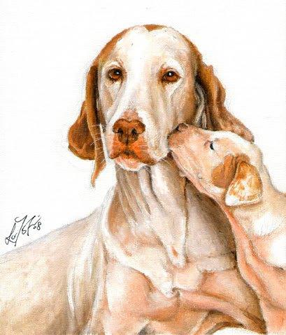 � ORIGINAL Oil DOG Portrait Painting ENGLISH POINTER �