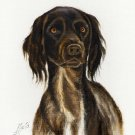 ☆ Original DOG Oil Portrait Painting MUNSTERLANDER Art
