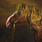 ★ Original Oil Portrait Painting DRAFT STALLION Horse ★