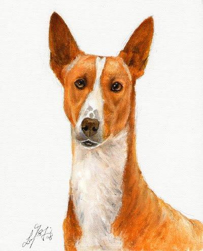 � Original Oil DOG Portrait Painting PODENGO PORTUGUES