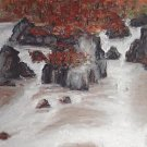 ★ Original Oil Painting Landscape Fall Leaves & River ★