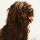 ★ Original Oil DOG Portrait Painting Art SCHAPENDOES ★