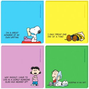 �� PEANUTS SNOOPY � �New STICKY NOTES Set of 4 CUTE~