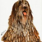 ★Original Oil DOG Portrait Painting BERGAMASCO SHEEPDOG