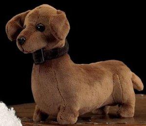 � BEARINGTON Plush Toy WEINER DACHSHUND Dog ~IT BARKS~
