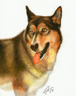 � ORIGINAL Oil DOG Portrait Painting ALASKAN MALAMUTE