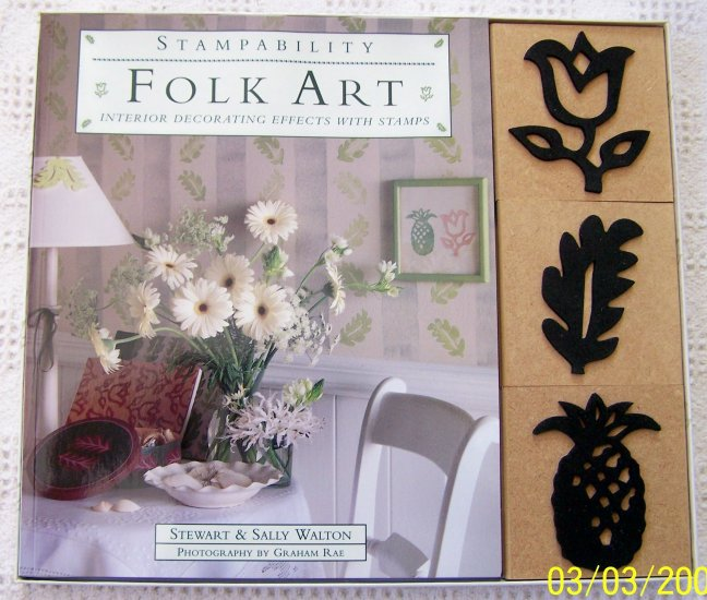 Stampability Folk Art Interior Decorating W/ Stamps NEW