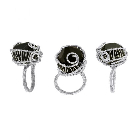 Black Onyx Eve Ring in Sterling Silver