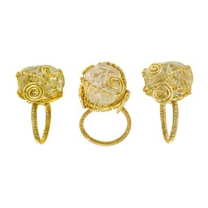 Crystal Quartz Eve Ring in Gold