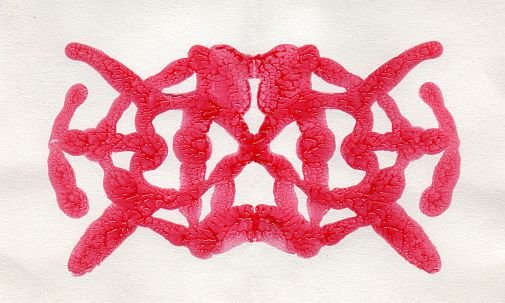 Hearts Inkblot 4X6