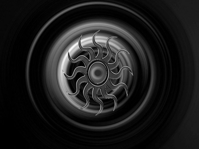 Sun Metallic Black 8X10