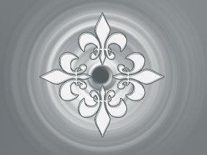 Fleur De Lis Gradient 8X10