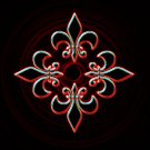 Fleur De Lis Glow 8X10