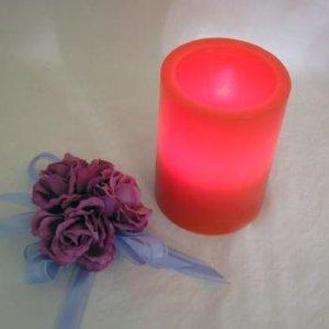 LED Tea Light Wax Holder 10cm - Red