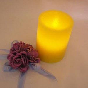 LED Tea Light Wax Holder 10cm - Yellow