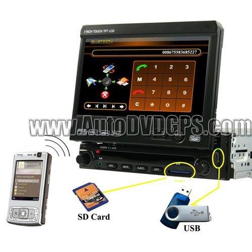 """7"""" Car DVD GPS Bluetooth Touchscreen TV 2 Din GPS Navi DVD Player"""