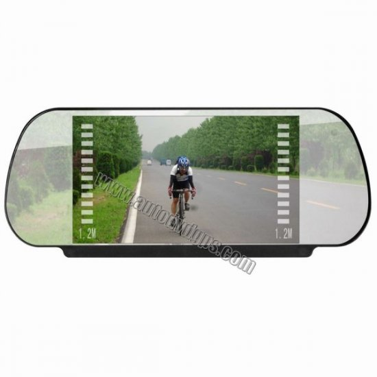 Car Back Rearview Mirror Monitor 2 Video Input  TV