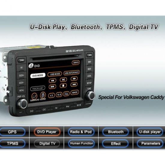 Advanced & High Quality Car DVD GPS Player for VW CADDY + iPod ready Bluetooth
