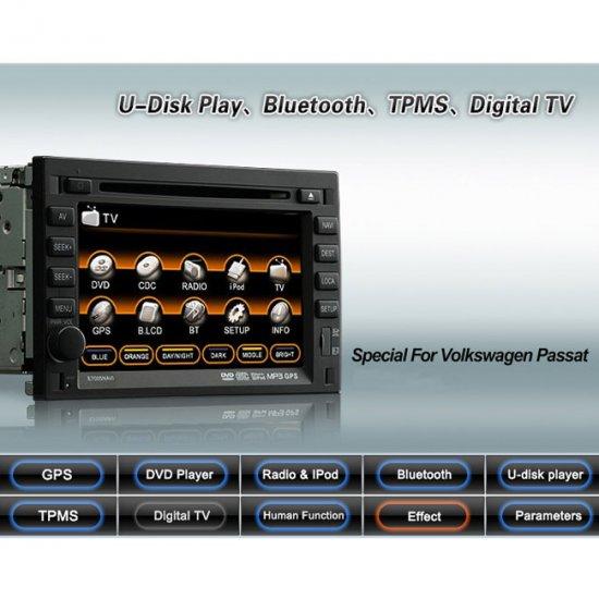 Advanced & High Quality Car DVD GPS Player for VW PASSAT + IPOD ready Bluetooth