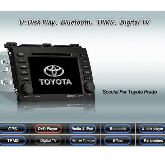 Advanced & High Quality Car DVD GPS Player for Toyota Prado + IPOD ready Bluetooth