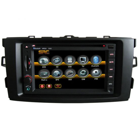 Car DVD CD MP3 Player with GPS naivgation for Toyota Auris