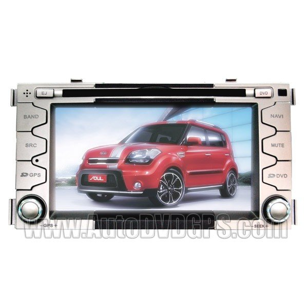 """SOL776 Car DVD Player with GPS navigation and 6.2"""" HD touchscreen and Bluetooth for KIA SOUL"""