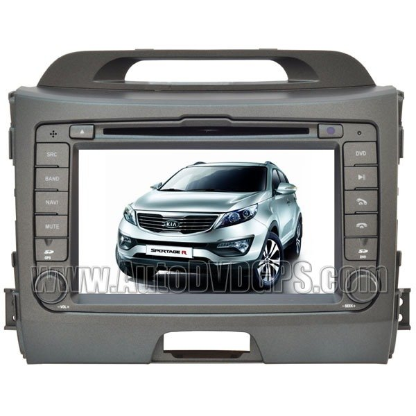 """7"""" Touchscreen DVD with GPS Navigation / PIP RDS /optional built-in DVB-T for 2010 2011 KIA Sportage"""