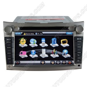 "LGC761D 7""HD Touchscreen 2009-2011 Subaru Legacy DVD GPS Navigation Player with PIP RDS iPod V-CDC"