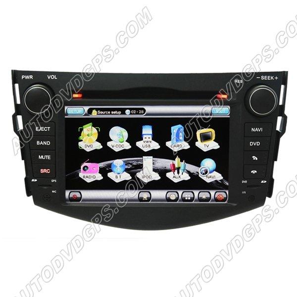 "RAV718 7""Digital HD touchscreen ToyotaRAV4 DVD GPS Navigation player with FM USB RDS Bluetooth iPod"