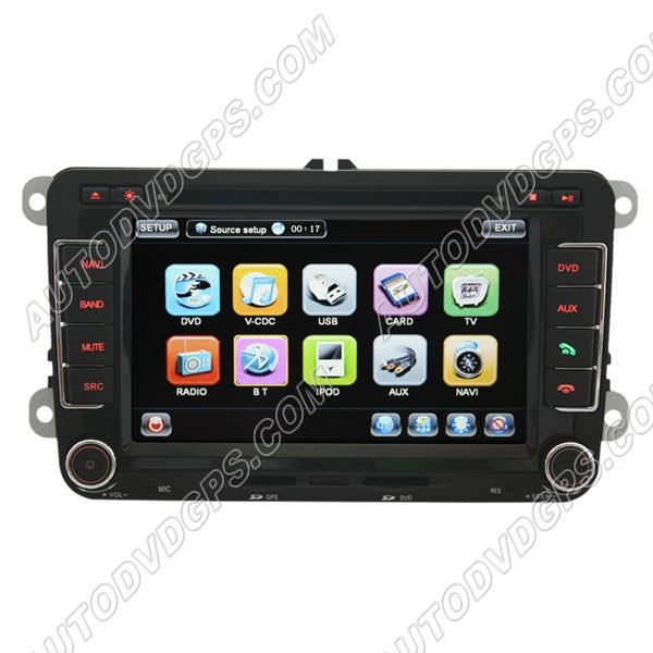 """7"""" Digital Touch screen VW GOLF 5 6 DVD GPS player with BT iPod CAN-BUS and optional RDS-TMC"""