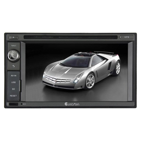UDG520  Custron T1062UD1 Double Din Universal GPS Sat Navi System + DVD Playback BT Phonebook