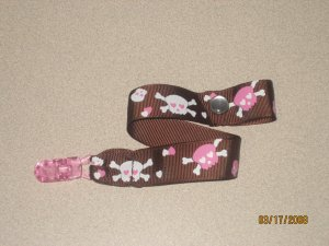 Snuggly Saver Hip Skull in Brown & Pink