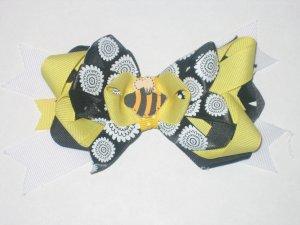 Bumble Bee Hair Bow Yellow & Black