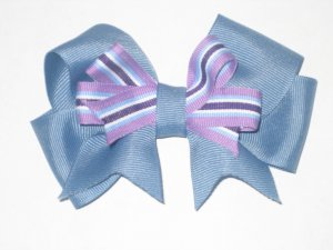 Classic Bow Blue with Purple Overlay