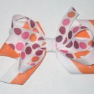 Big Loop Bow Orange, Pink, & Maroon