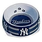 New York Yankees Dog Food Bowl Small Holds 3 Cups
