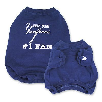 New York Yankees #1 Fan Dog T Shirt Size Large